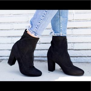 Black Zip Up Booties